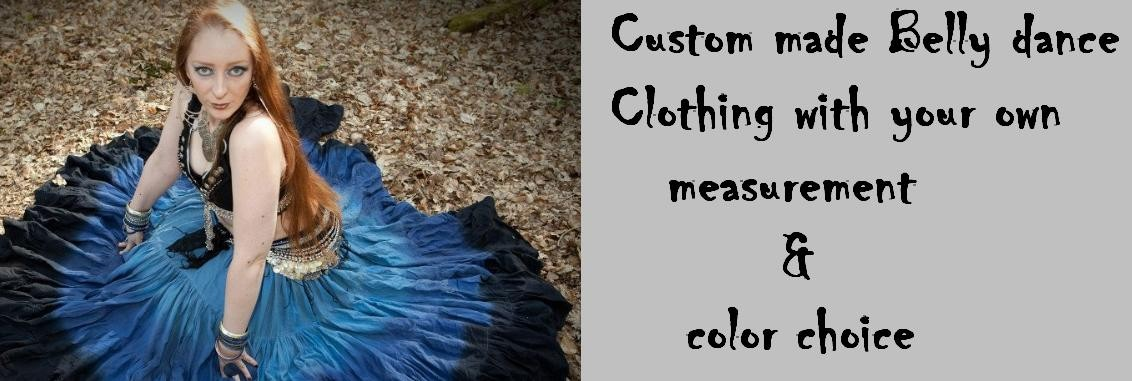 Belly dance skirts, veils, choli and costumes with your size and measurement