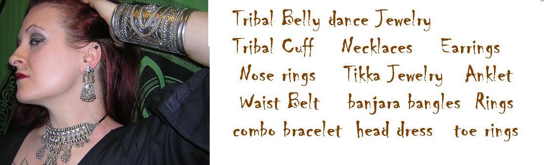 Tribal belly dance jewelery
