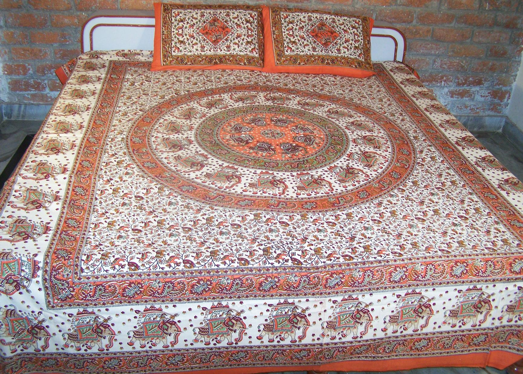 Bed sheet or bead spread from india