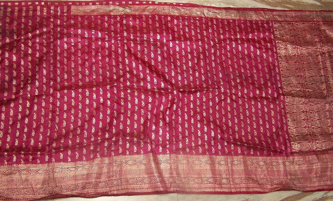 used sari fabric