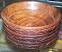 Wooden Carved Bowls Pair