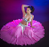 Belly dance silk circle skirt
