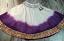 Full 6 yard deep dye skirt with golden zari fabric