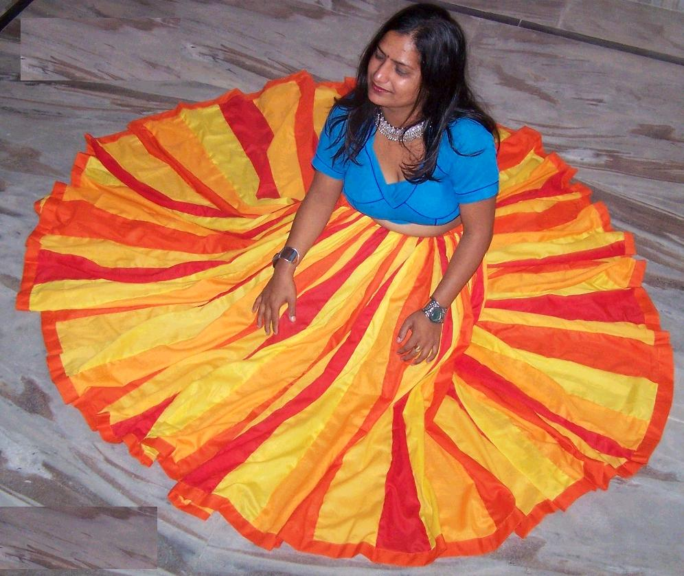 160 gore belly dance circle skirt