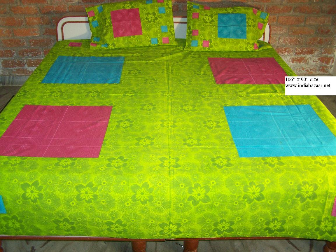 Green bed sheets texture - Indian Bed Sheet