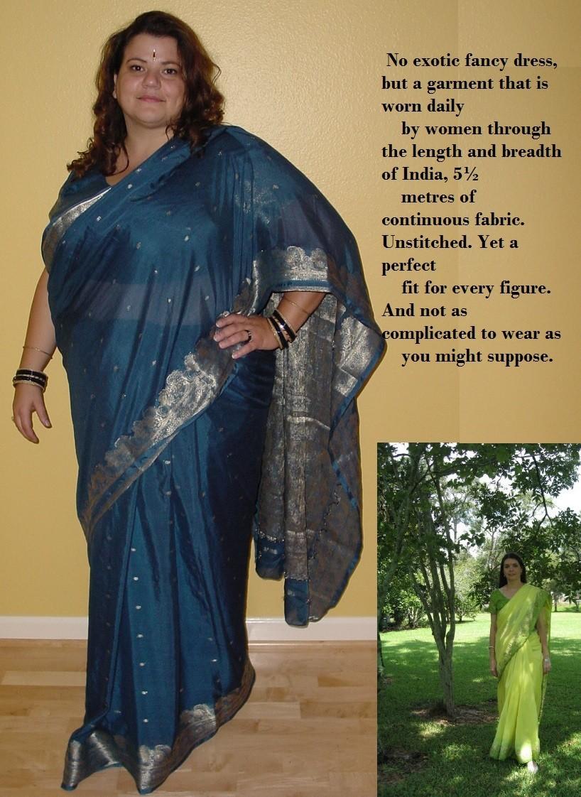 How to wrap sari