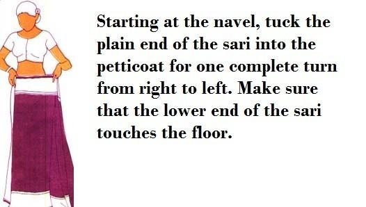 How to wear sari step 2