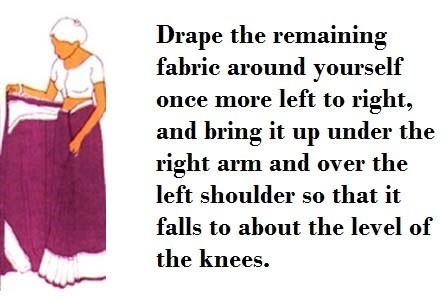How to wear sari step 5