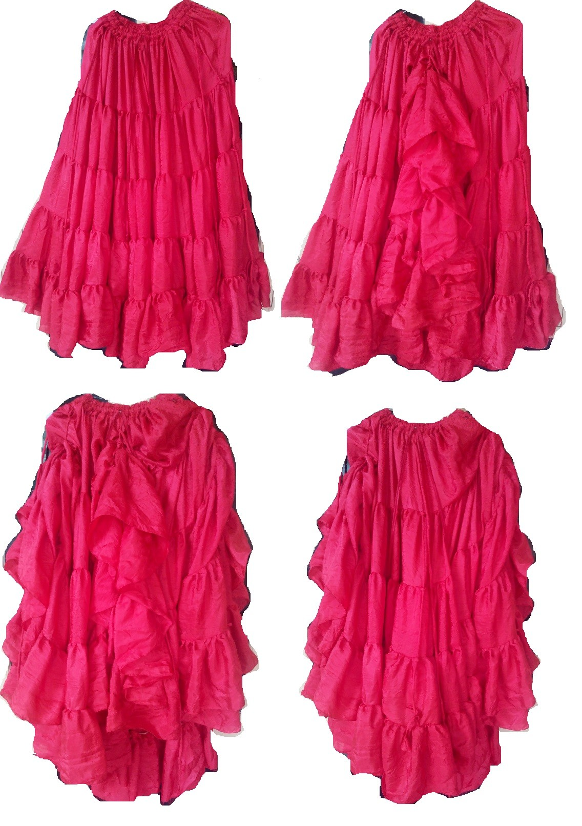 b6e70072500 Belly dance 25 yard silk Magic gypsy skirt with your measurement