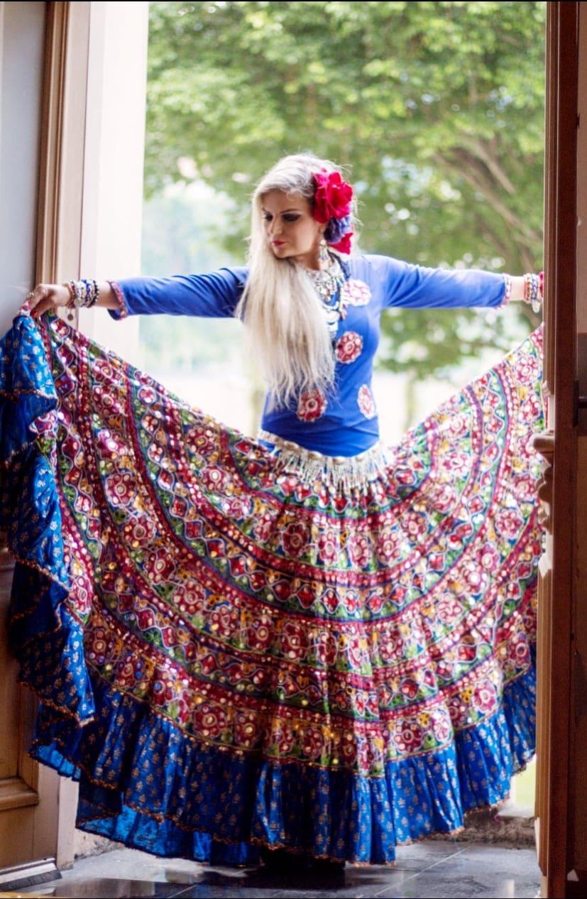 Banjara skirt 1 Blue