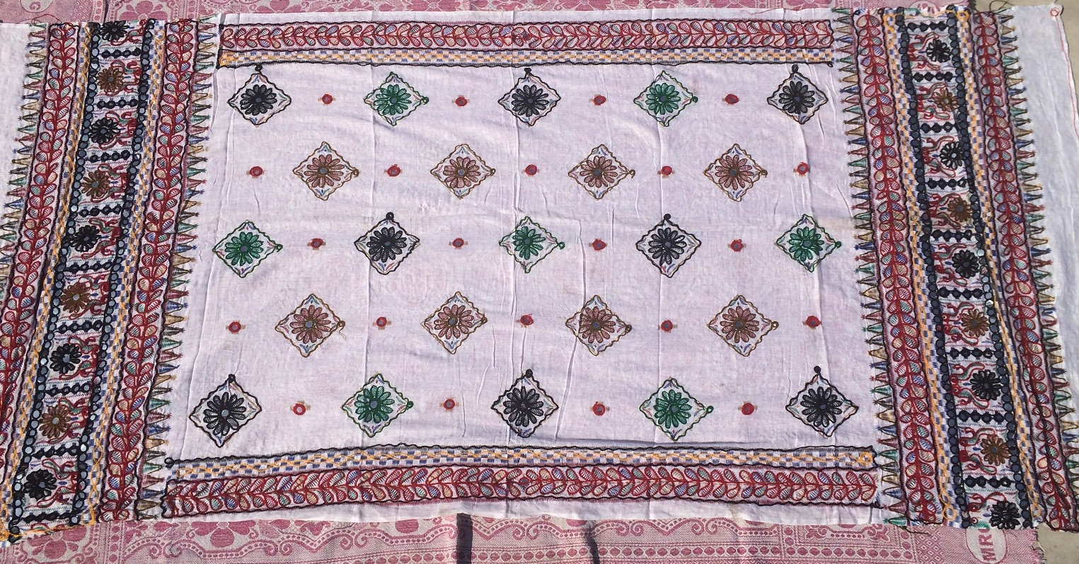 banjara tribal veil white