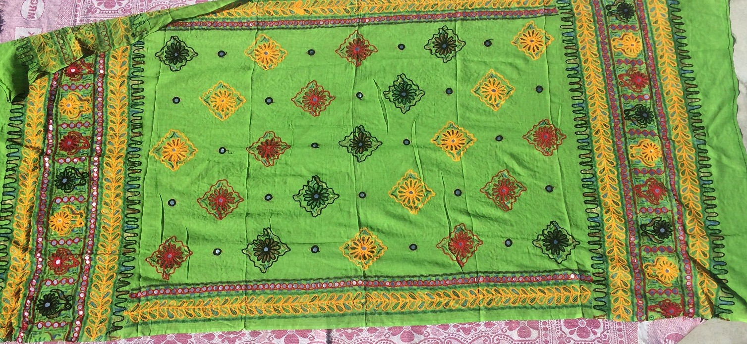 banjara tribal veil light green