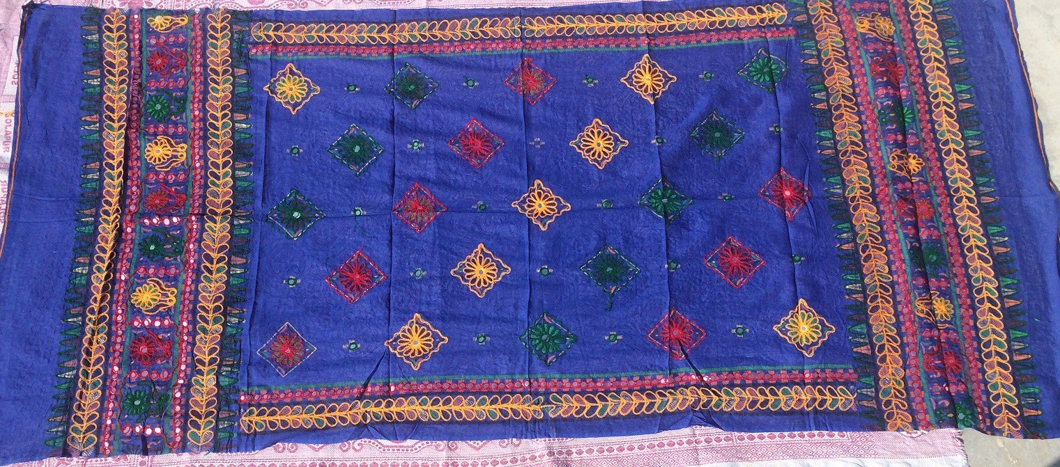 banjara tribal veil blue