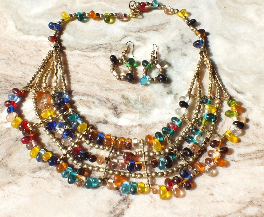 Tribal kuchi Beaded necklace 1