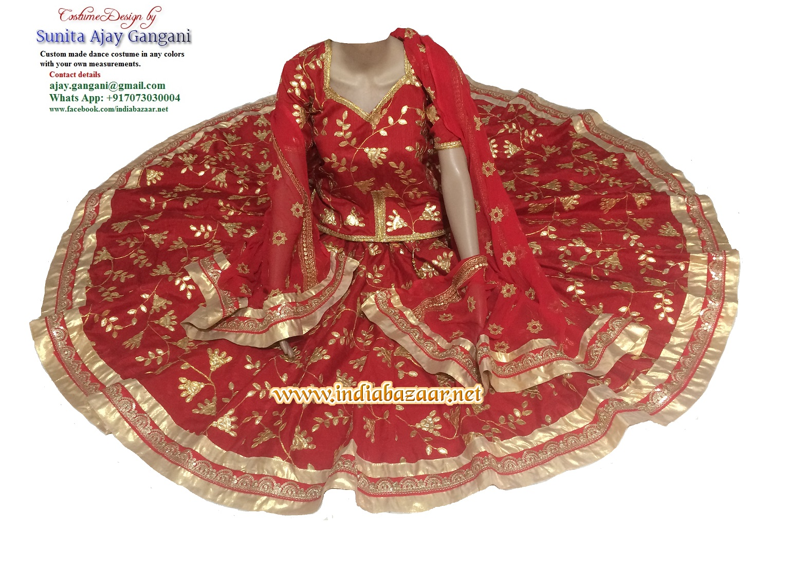 Bollywood dance costume 102