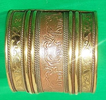 Tribal brass cuff 11