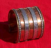 Tribal copper cuff 12