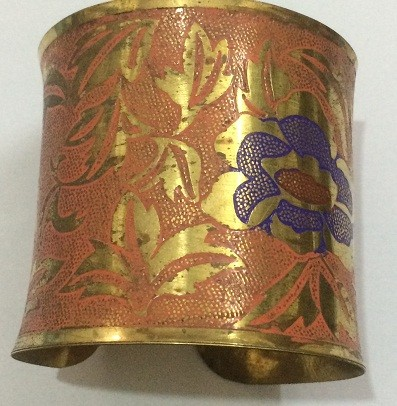 Tribal kuchi brass cuff 27