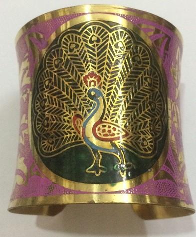 Tribal kuchi brass cuff 28