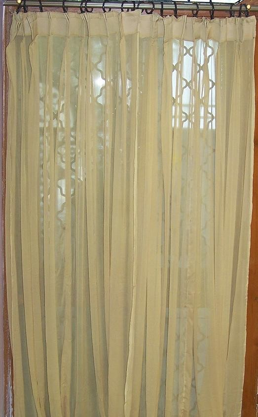 chiffon curtains
