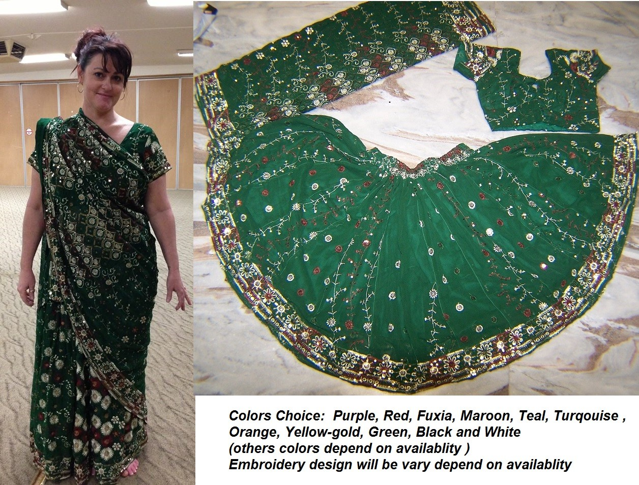 belly dance saree costume
