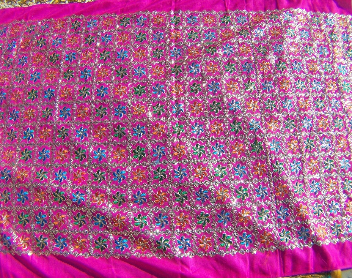 Pink sequin fabric 101