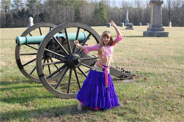 Kids belly dance gypsy skirt