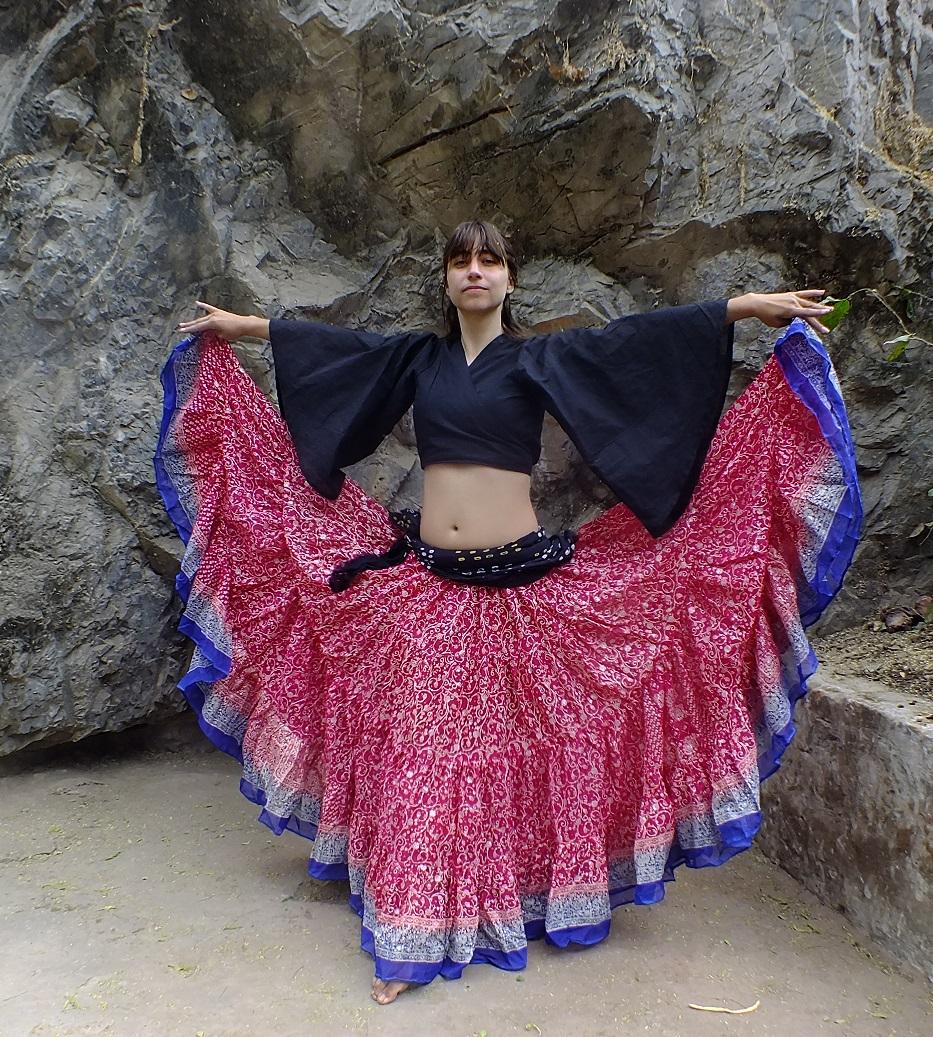 Dark Pink Maharani skirt 7