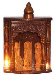 Embossed wooden Mandir