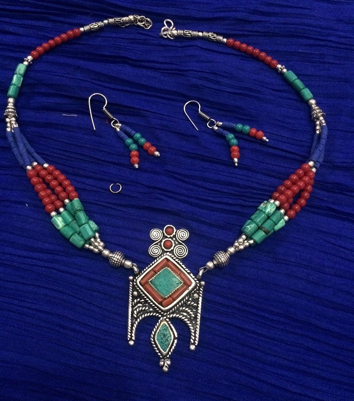 Tribal kuchi necklace 117