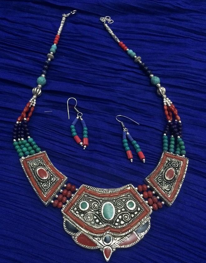 Tribal kuchi necklace 79