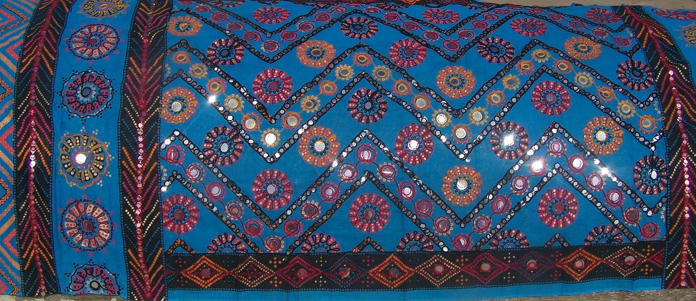banjara tribal veil turquoise