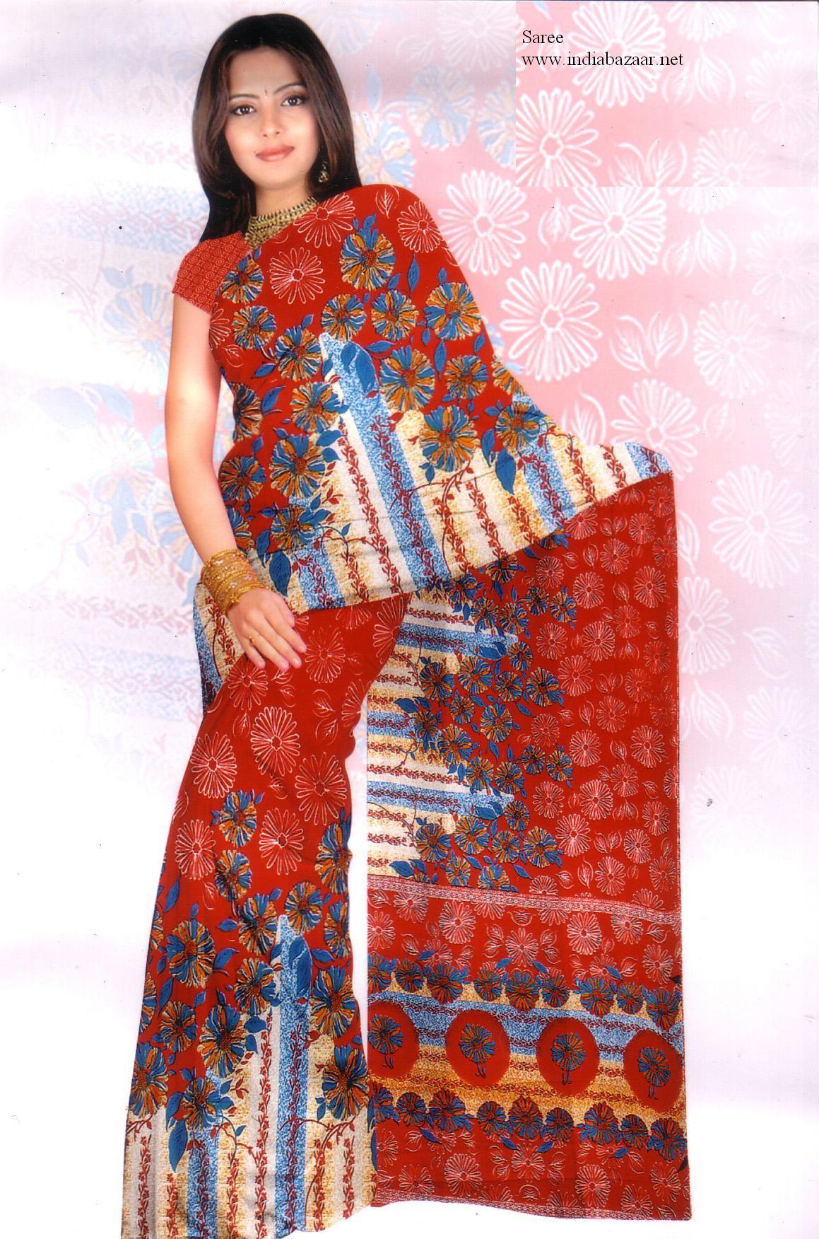 Sari with blouse and petticoat 1