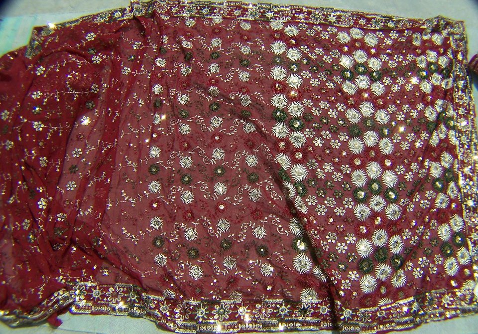 Sari with blouse and petticoat 57