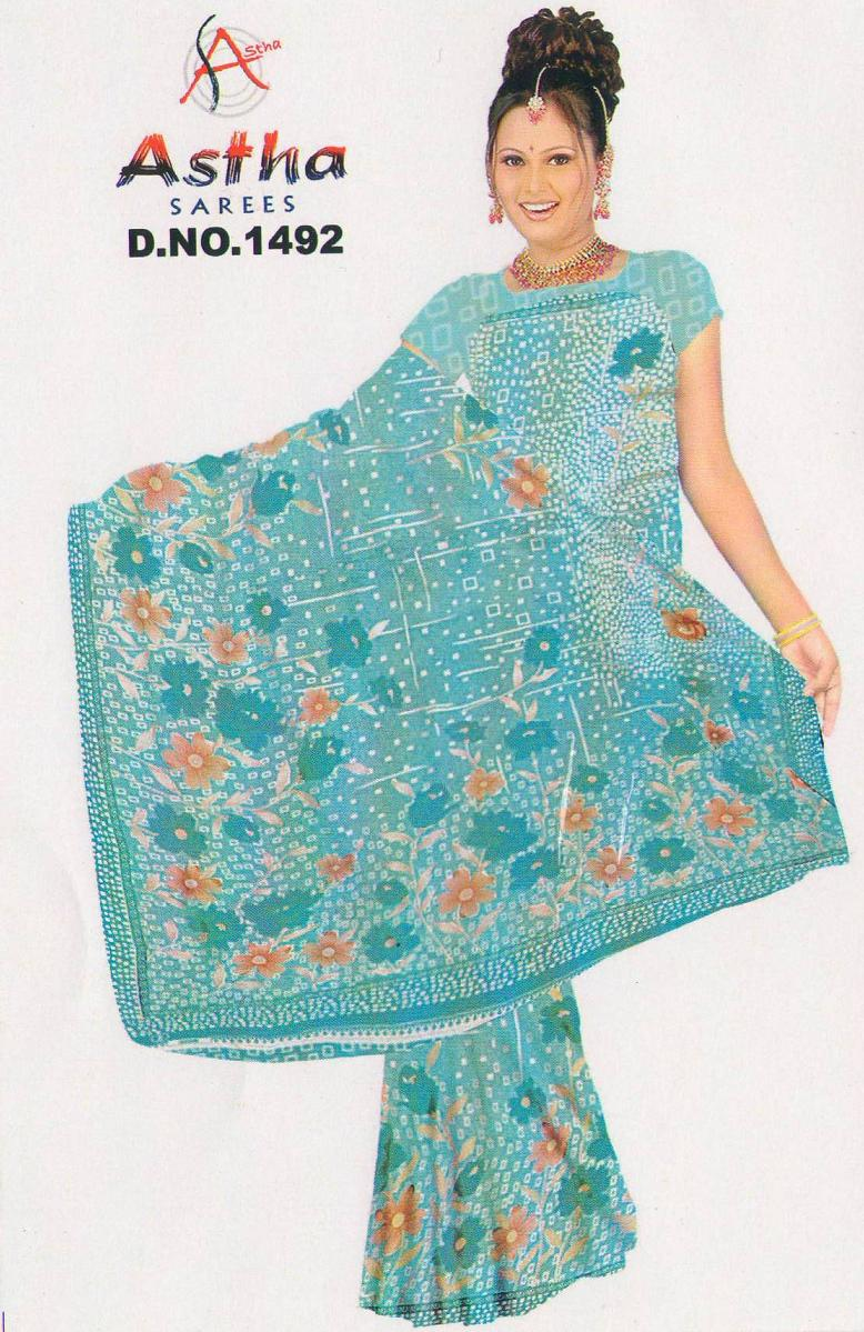 Sari with blouse and petticoat 6