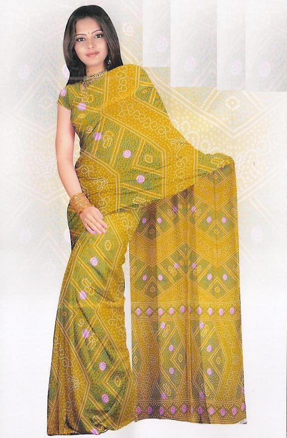 Sari with blouse and petticoat 66