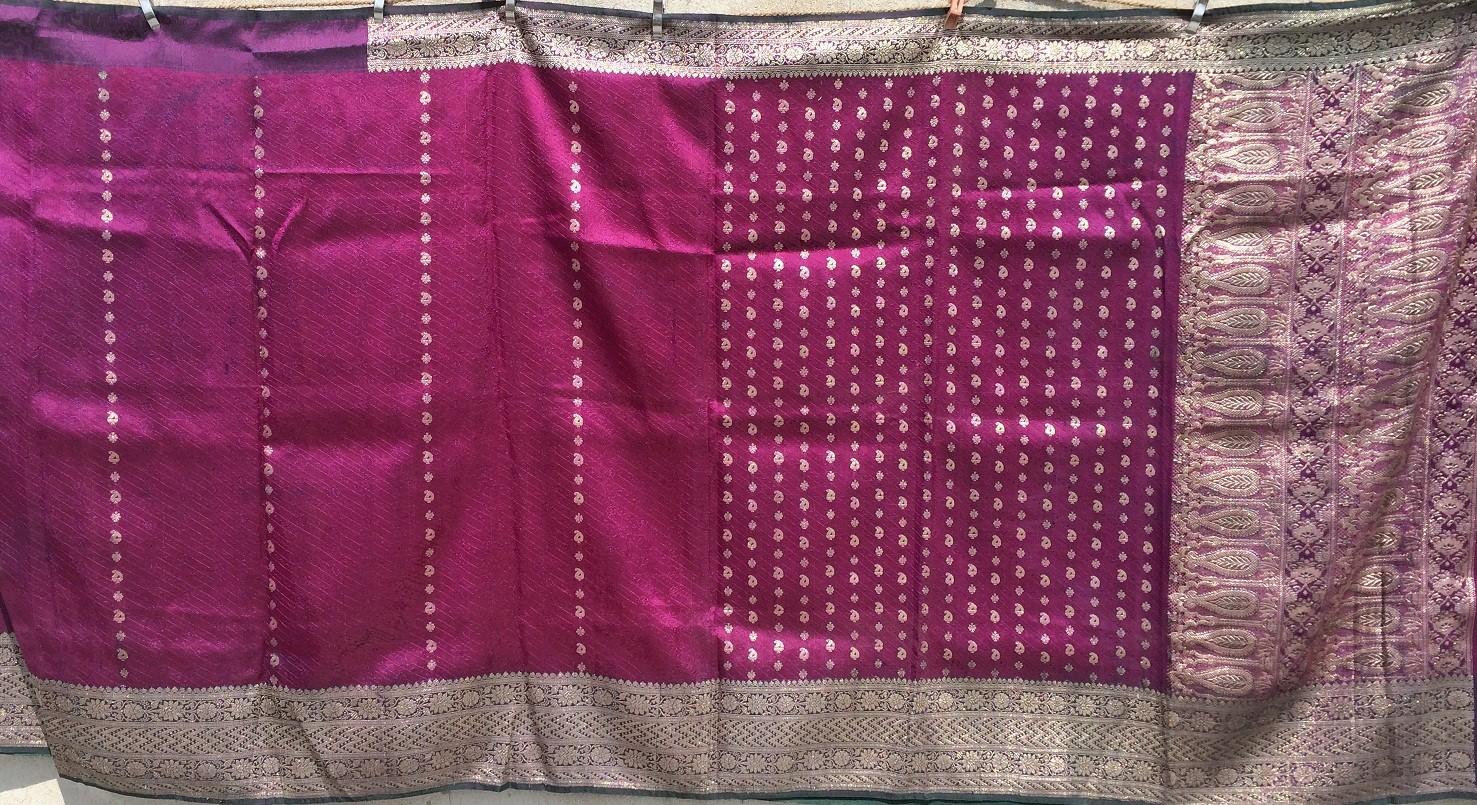 Used silk sari 1