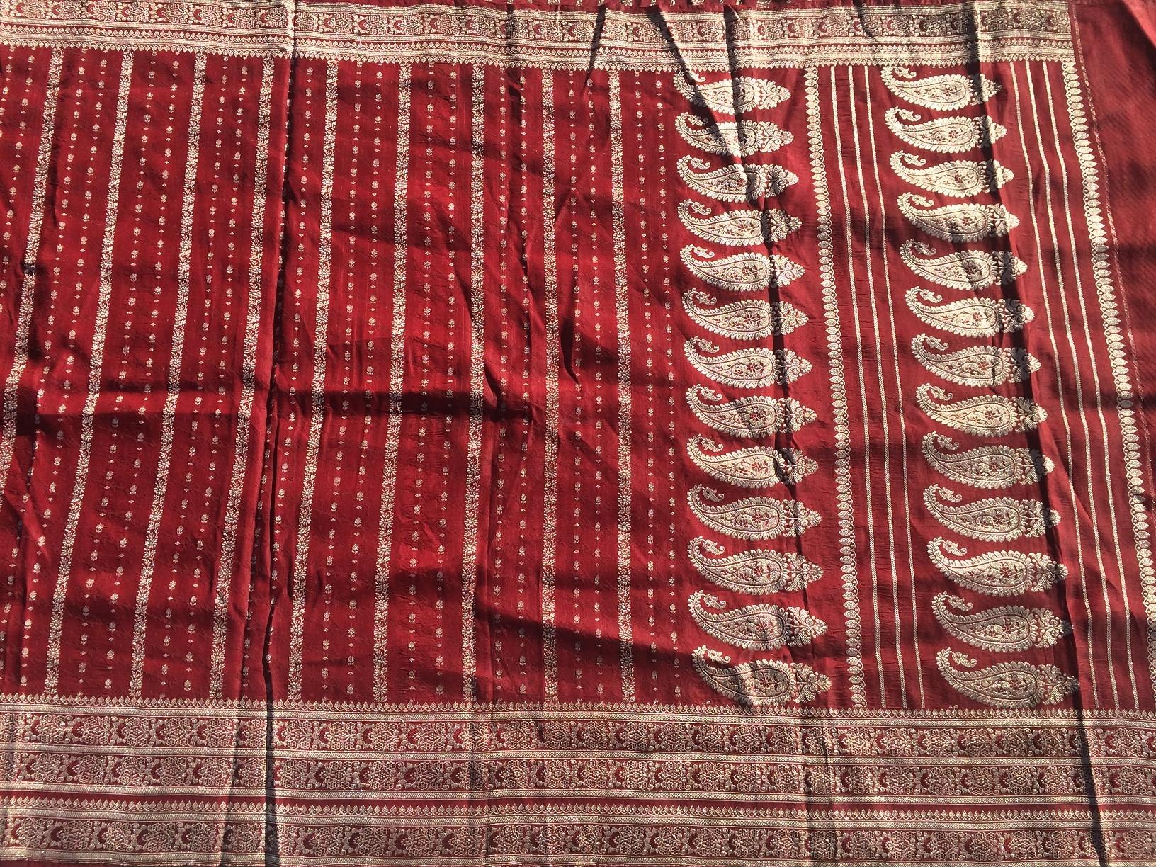 Used silk sari 10