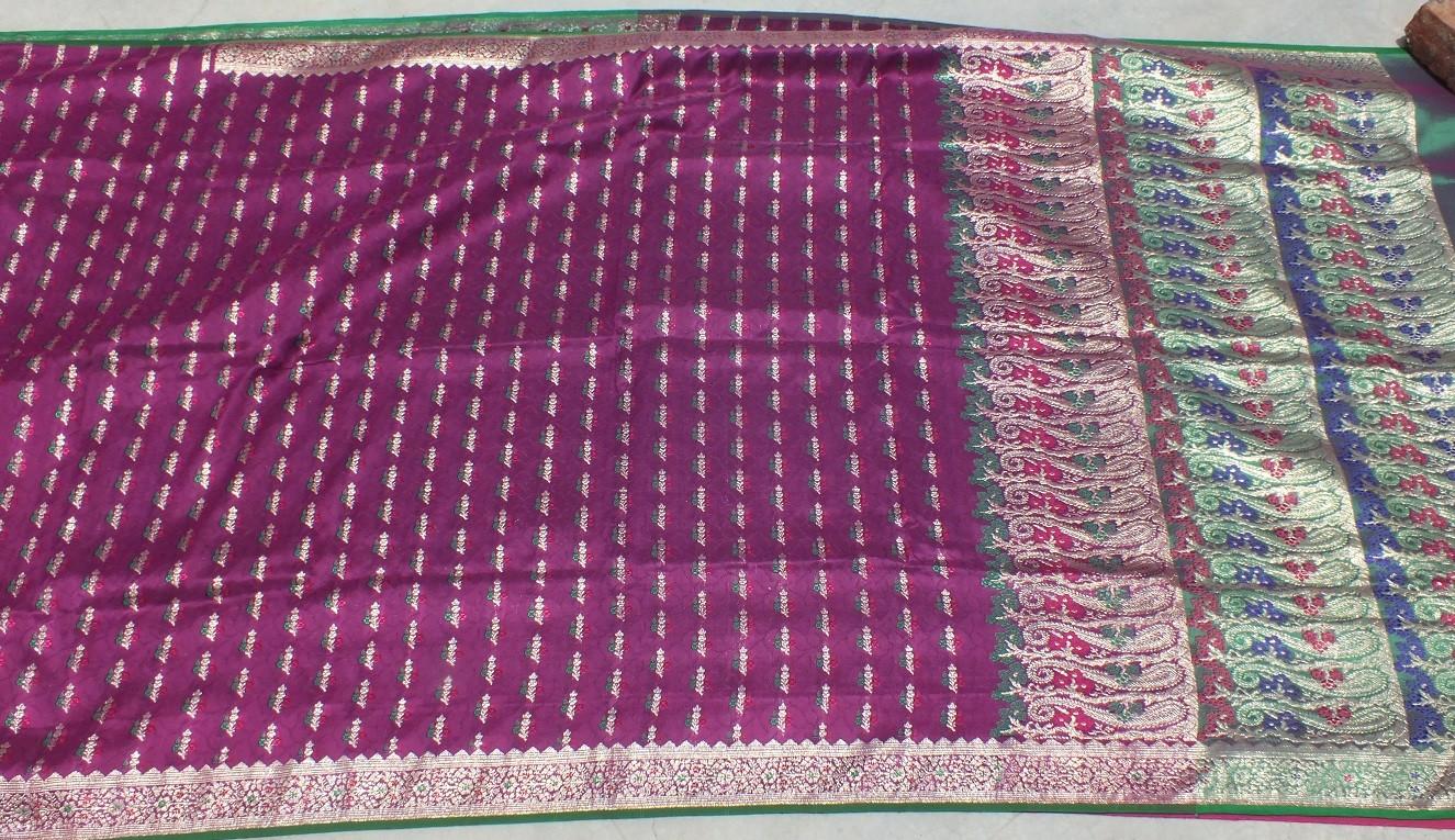 Used silk sari 11