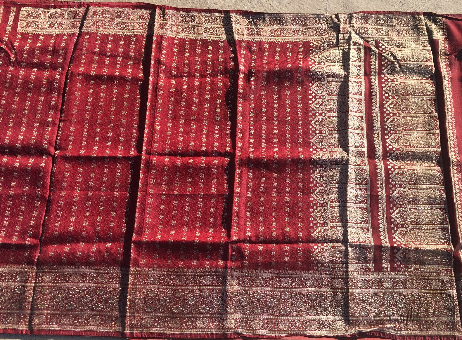 Used silk sari 20