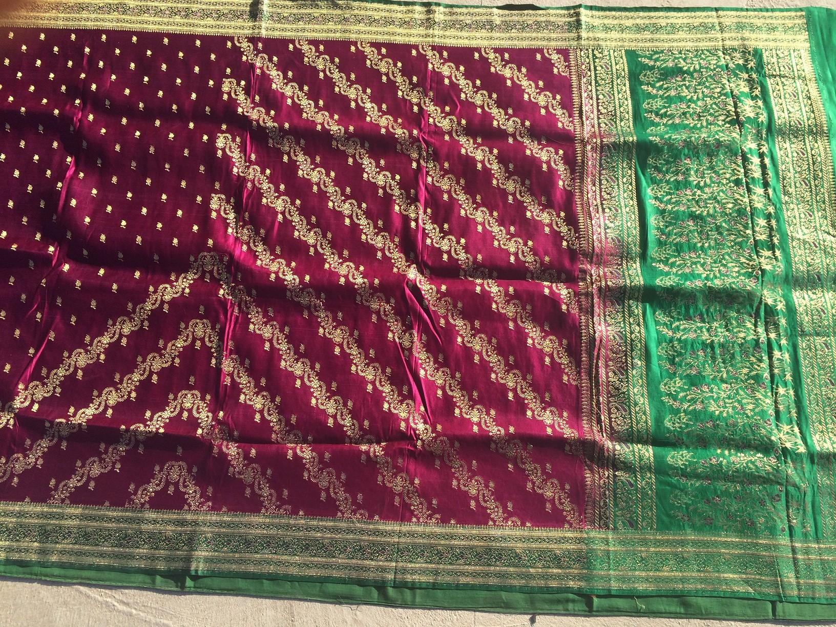 Used silk sari 23