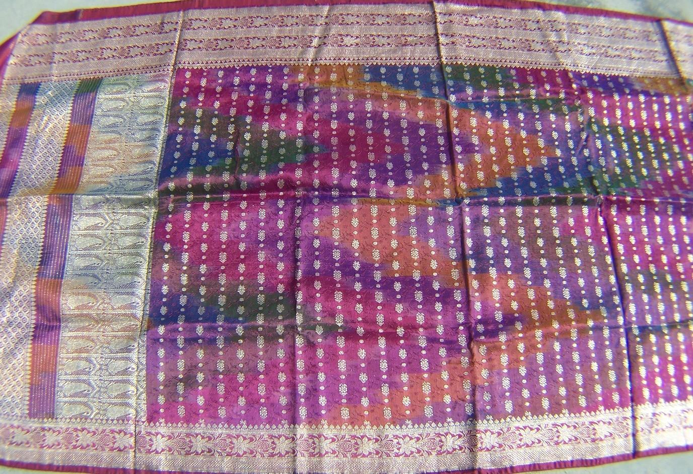 Used silk sari 5