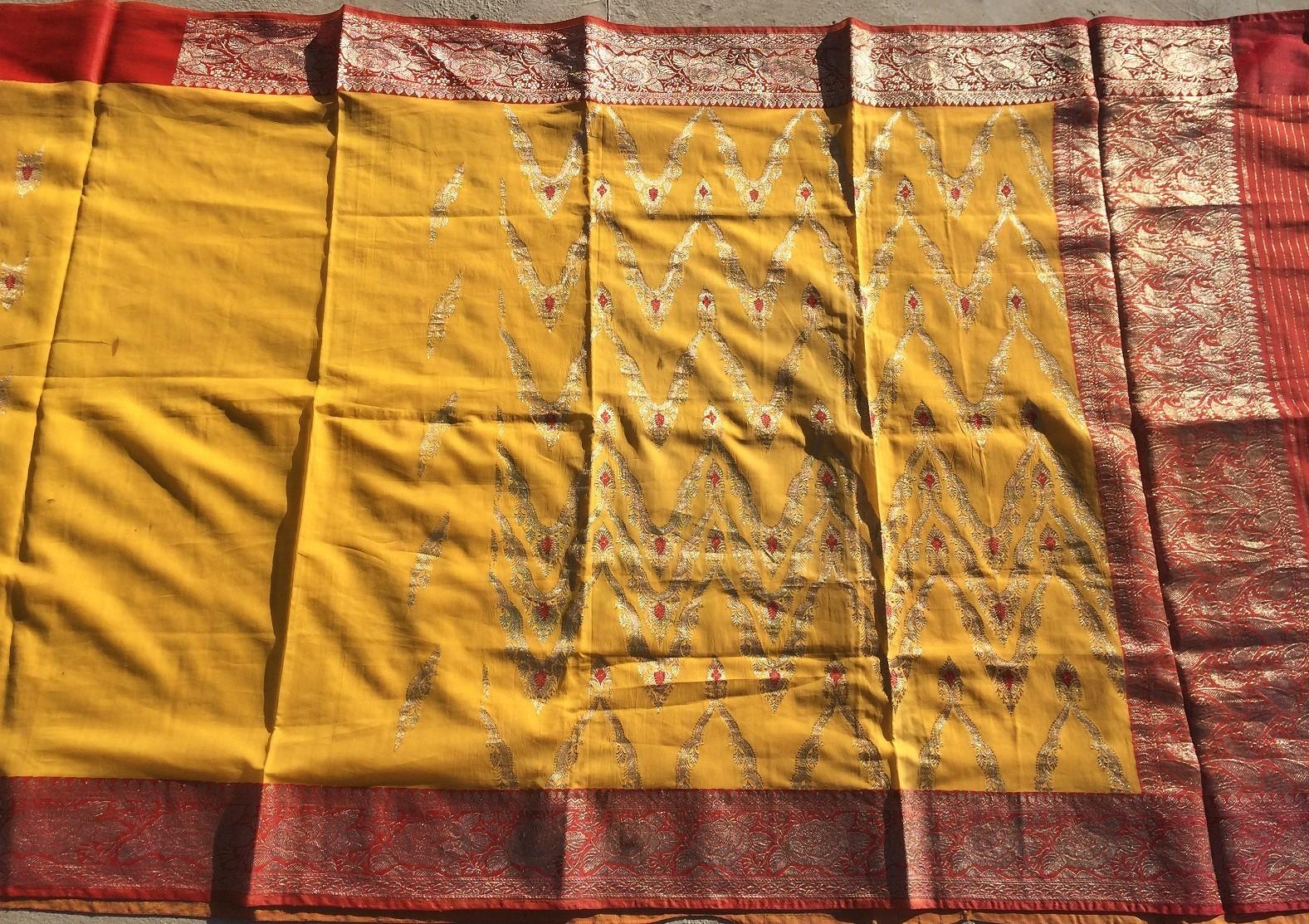 Used silk sari 8