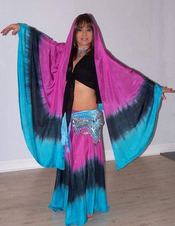 6-yard silk skirt and veil