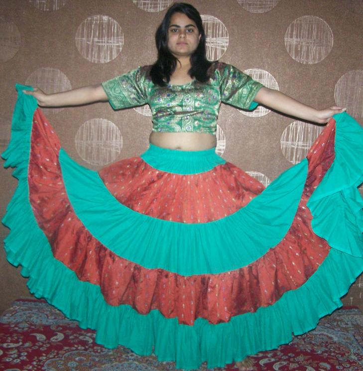 25-yard sangeeta skirt