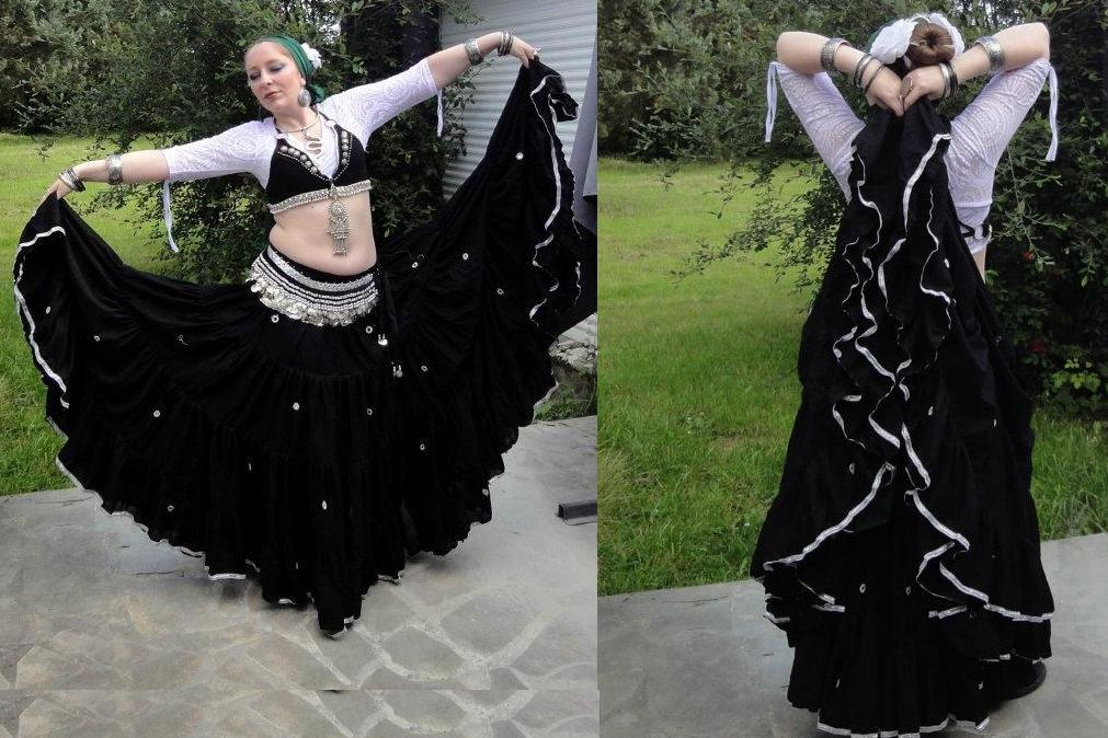 belly dance 25 yard shisha gypsy skirt