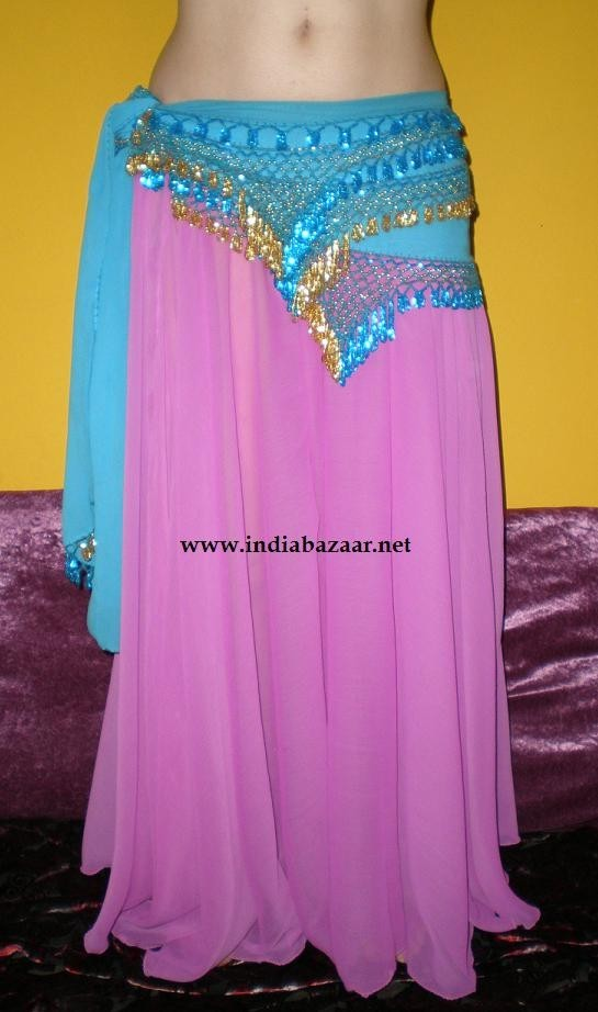 belly dance 6 yard full georgette skirt