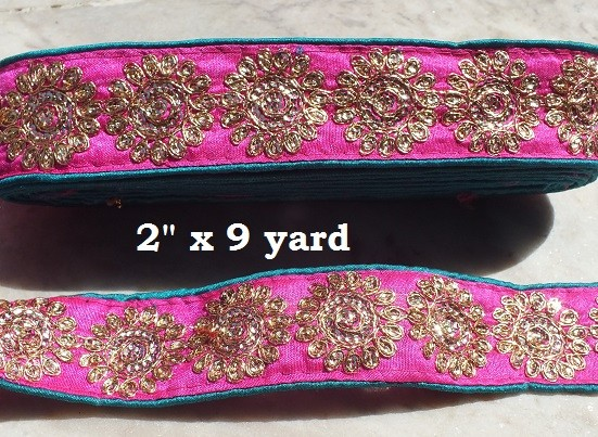 EMBROIDERED x 9 yard =Trim 125