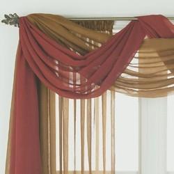 chiffon window scarf