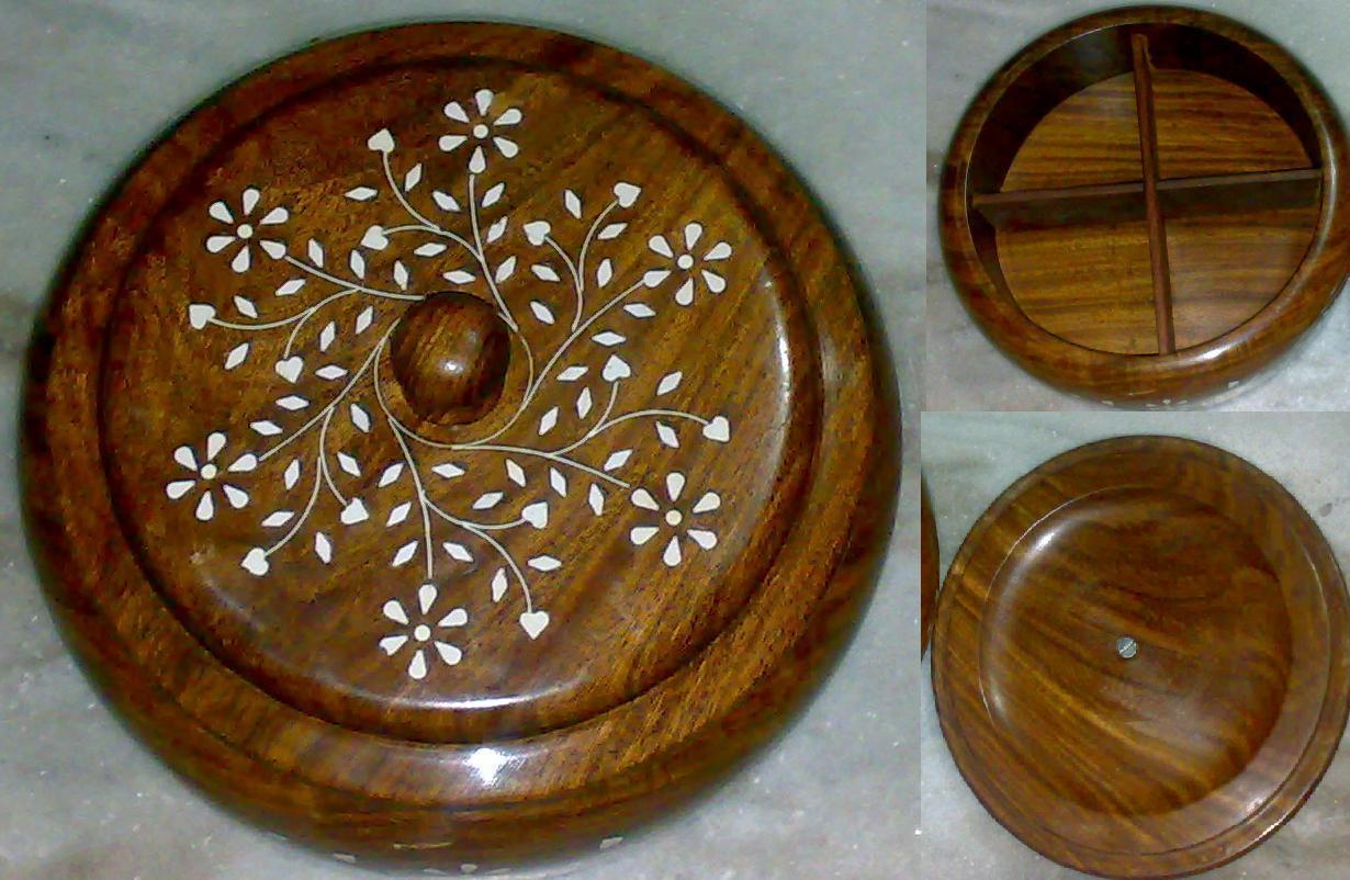 Wooden Masala dabba